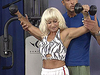 Mature bodybuilder needs violent have sexual intercourse.