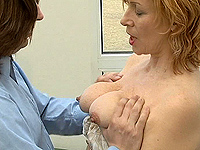 Red head mom loves hot cumshot over her face.