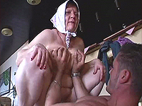 Ugly old houswife loves heavy have intercourse.