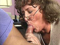 Hot office mature loves a young stud.