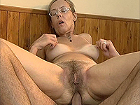 Hairy mature loves deep anal.