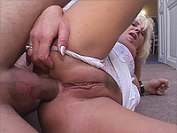 Busty mom loves deep butthole.