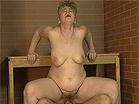 Crazy old mom gives blowjob n fucks.