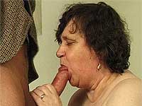 Crazy old mom gives sucks n fucks.